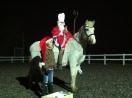unser Nikolaus am Pferd samt Helferlein